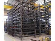 Construcción de marcos fotovoltaicos en serie