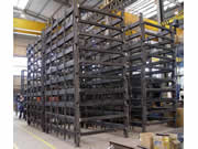 Production en série de cadres photovoltaïques
