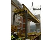 construcción 4 pasarelas