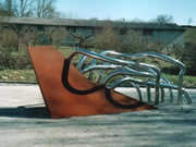 Escultura de acero inoxidable y acero corten - Poesía del agua