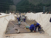 construction d'un pont mixte en acier corten