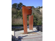 Corten steel sculpture - Itsas Lema