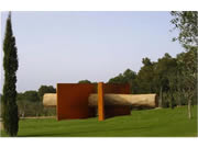 corten steel sculpture - Titan Arcs