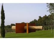 corten steel sculpture - Titan Arcs
