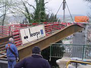 Production of a footbridge in Hernani