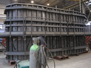 formwork of the columns of a bridge