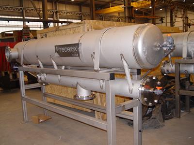 equipo limpieza agua por flotación planta desaladora Omán